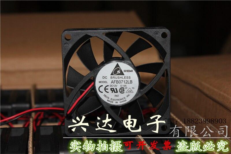 Новый оригинальный AFB0712LB 12В 0.14A 7 см 7015 2-проводный ультратихий охлаждающий вентилятор