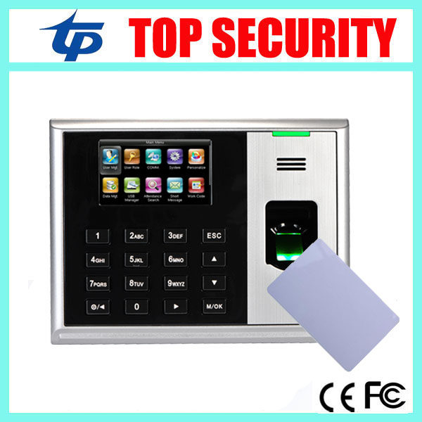 TCP/IP USB fingerprint time and attendance time clock time recording with MF card reader 3 inch color screen with free software sushi cabinet su12