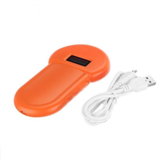 134,2 кГц животное ID считыватель ЖК-дисплей RFID портативный ПЭТ микрочип распознавание ушной тег сканер E2S