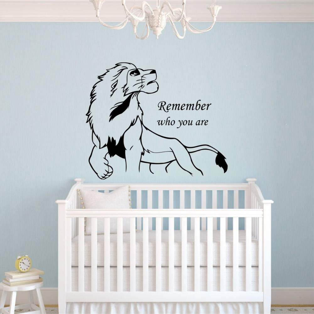 Lion King Simba Wall Decal Remember Who You Are Quote Vinyl Wall