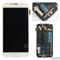 100% Tested Super amoled For Samsung Galaxy S6 G920F Lcd Display Touch Screen Digitizer Assembly + Front frame