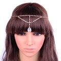 European and American fashion chain forehead headdress drops