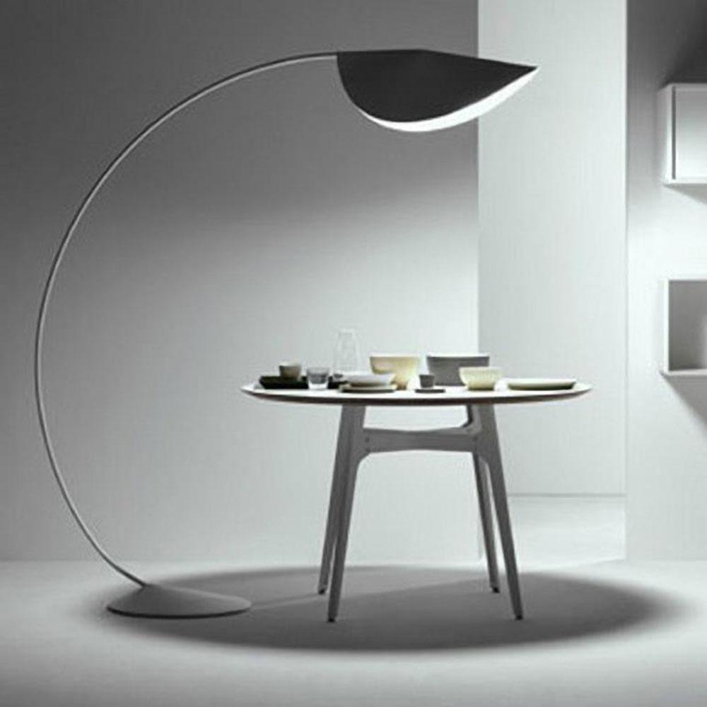 Projet industriel art décoration lampadaire moderne debout concepteur de lumière noir jaune blanc led lampes de