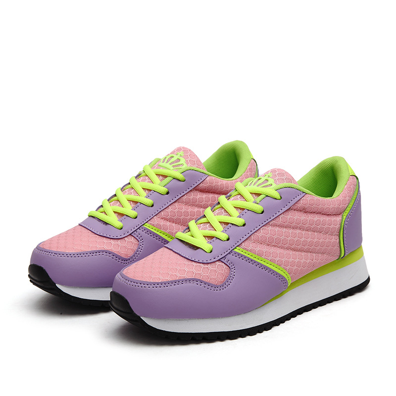 ФОТО new women casual platform shoes woman breathable shoes flat shoes lace-up ladies height increasing casual shoes DT330