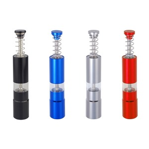 Image 1 - Hand Driven Metal Pepper Grinder/Salt Mill&Muller,Portable Thumb Push Aluminium Case,Stainless Steel Core