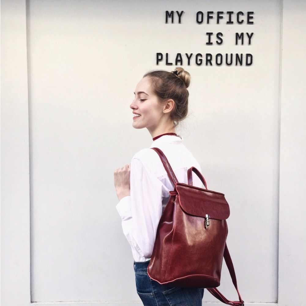 REALER kadın sırt çantası gençlik bölünmüş deri gençler için sırt çantaları kızlar kadın okul omuzdan askili çanta büyük seyahat Ladie çanta mochila