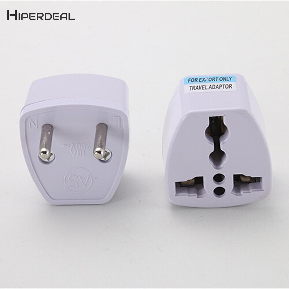 HIPERDEAL США в ЕС Европа и универсальный AC Мощность Plug World Бизнес Travel Adapter конвертер международных Применение QIY24 D05