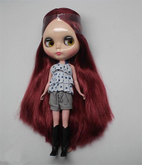 ICY Neo Blythe Doll Wine Red Hair Regular Body 30cm