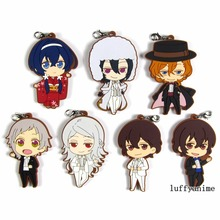 Bungo Stray Dogs DEAD APPLE Rubber pendant Dazai Osamu Chuya anime Action Toy Figures Phone Accessories charm strap Keychain anime bungou stray dogs backpack teenage girl school bags dazai osamu chuya nakahara women men backpack bungo stray dogs bag