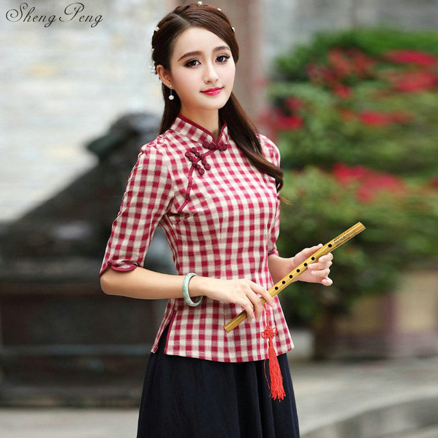 various colors classic styles best service US $34.8 40% OFF traditional chinese top Short Sleeve Floral cheongsam top  Qipao Shirt Chinese Blouse For woman Q188-in Tops from Novelty & Special ...
