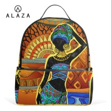 ALAZA Charm Africa Style Student Backpack Bag Travel Backpack for Girls School Laptop Backpack Large Capacity High Quality canvas double shoulder backpack high quality student laptop daypacks bag large capacity travel backpack outdoor storage bag