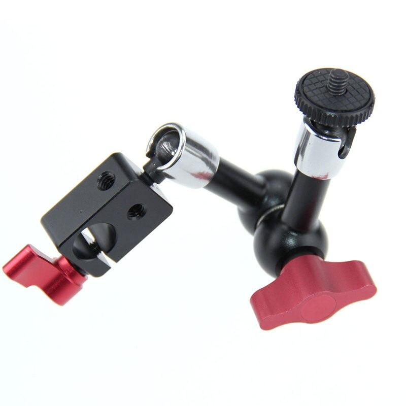 "7"" Inch Adjustable Articulating Magic Arm With 1/4"" Hot Shoe Mount Rod Clamp Fr Monitor LED Light DSLR Camera Camcorder C1086"