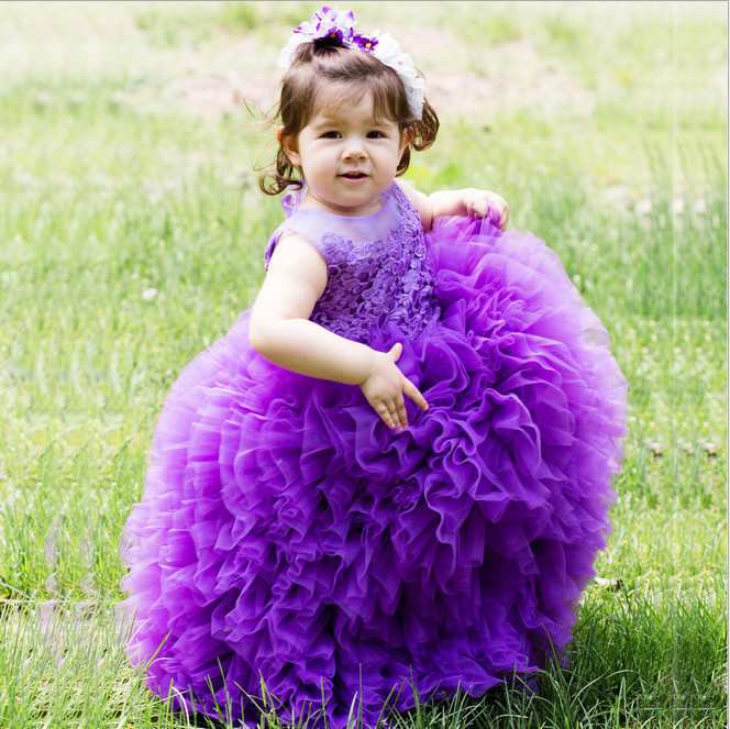 Aliexpress.com : Buy Cute Purple Girl Pageant Dresses For Little ...
