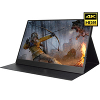13.3 Inch 4K HDMI DP Portable Monitor 3840 * 2160 HDR IPS Screen For Game Surpport HDCP 2.2 Display For PS4 Pro XBOX One PC