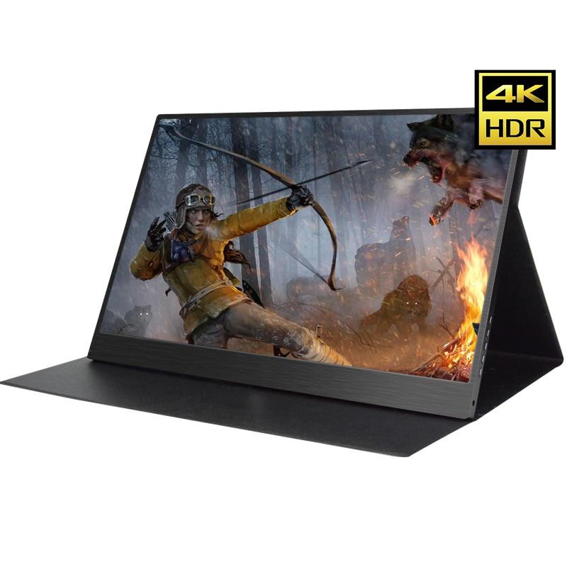 13.3 pouce 4 k HDMI DP Portable Moniteur 3840*2160 HDR IPS Écran Pour Jeu Surpport HDCP 2.2 Affichage pour PS4 Pro XBOX Un PC