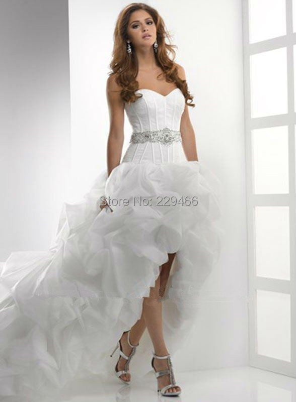 Front Short Long Back Wedding Dress Bride