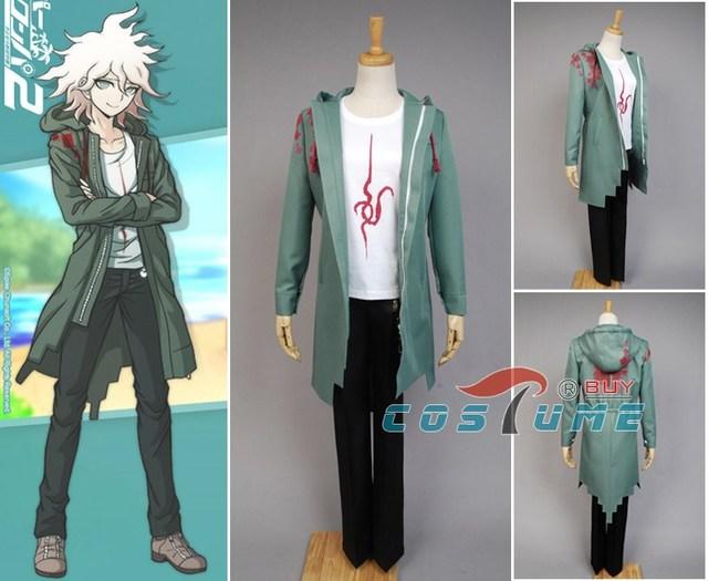 Anime Super Dangan Ronpa 2 DanganRonpa Nagito Komaeda Jacket Coat Cosplay Costume Halloween For Women Men