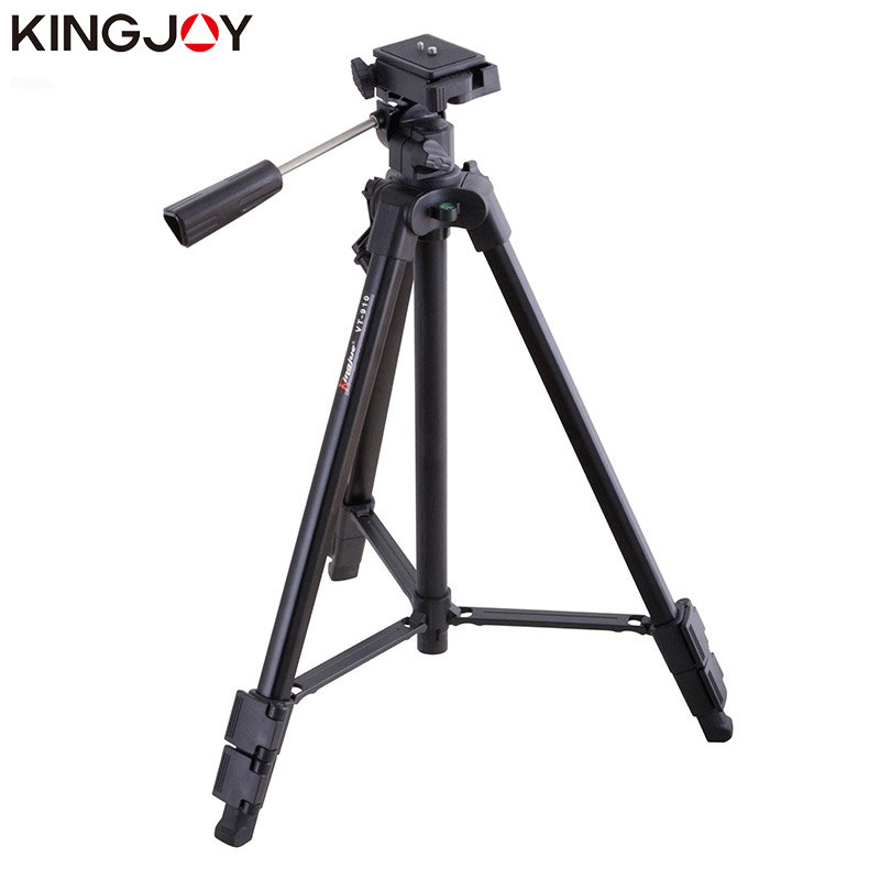 KINGJOY Officia VT 910 Camera Tripod Stand Profesional Alloy With Rocker Arm For All Models Flexible Portable Stativ Holder|Live Tripods| |  - title=