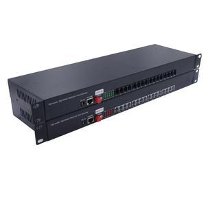 Image 2 - Премиум 16 каналов PCM голосовой Телефон по волоконно оптическим медиа конвертерам с 10/100 Мбит/с Ethernet FC одномодовым волокном 20 км