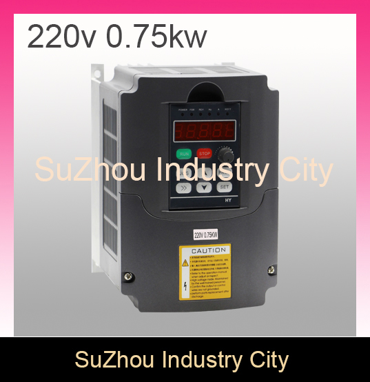 220V 0.75kw VFD Variable Frequency Driver 750w spindle motor driver speed control Inverter Input 1or 3HP 220V Output 3HP 220V ! 750w 1hp vfd frequency inverter 1phase 220vac input 1phase 0 220v output 3a 20 50hz for fan pump monophase motor