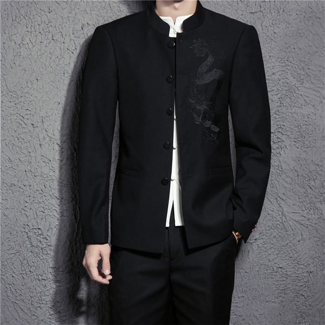 2018 New Chinese Style Men S Suit Jacket Pants Fashion Business