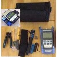 14 In 1 FTTH Fiber Optic Tool Kit FC 6S Fiber Cleaver Fiber Power Meter 10Mw