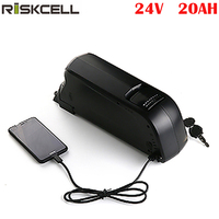 Electric Bicycle Battery 24v 20ah bottle case Lithium ion Battery Pack +charger+bms