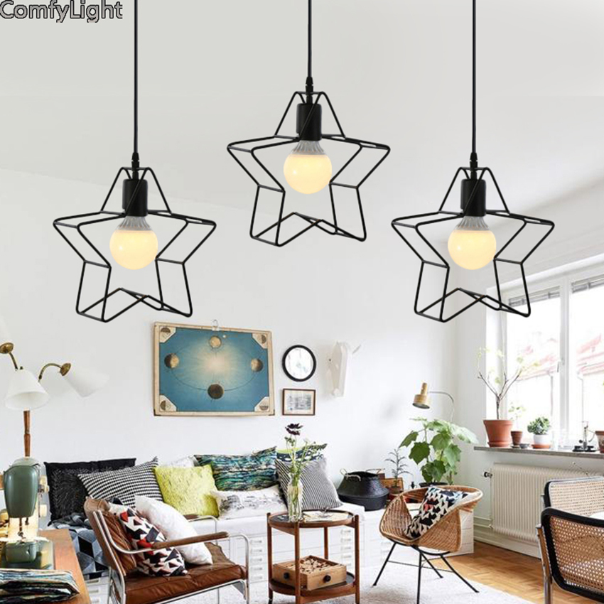 christmas decoration star pendant lights led hang lamp modern lighting fixtures for living room bedroom stoving kid room LED
