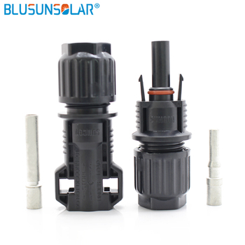 20 Pairs/ Lot 100% Pure PPO Material 10mm sq Solar Solar Connector with CNC Pin LJ0130 фото