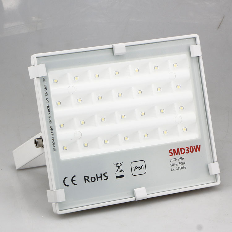 Floodlights Lights & Lighting Intellective 30w Led Outdoor Floodlight 220v Ip66 Waterproof White Color Body Ultra Thin Led Floodlight Free Shipping