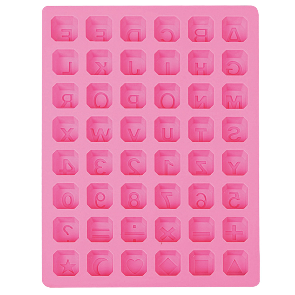 Kitchen,dining & Bar 48 Holes Letters Numbers Symbols Shaped Silicone Mold Diy Ice Lattice Chocolate Mould Handmade Soap Mold Baking Tools Bakeware Baking & Pastry Tools