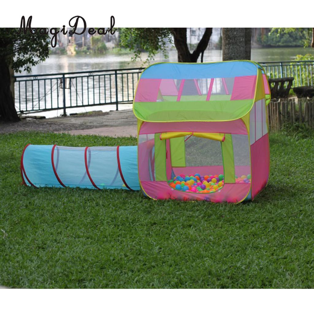MagiDeal Portable Kids Toddler Crawling Fun Pop Up Tunnel Play Tent Outdoor Toy for Home Beach Backyard Park Garden Camping