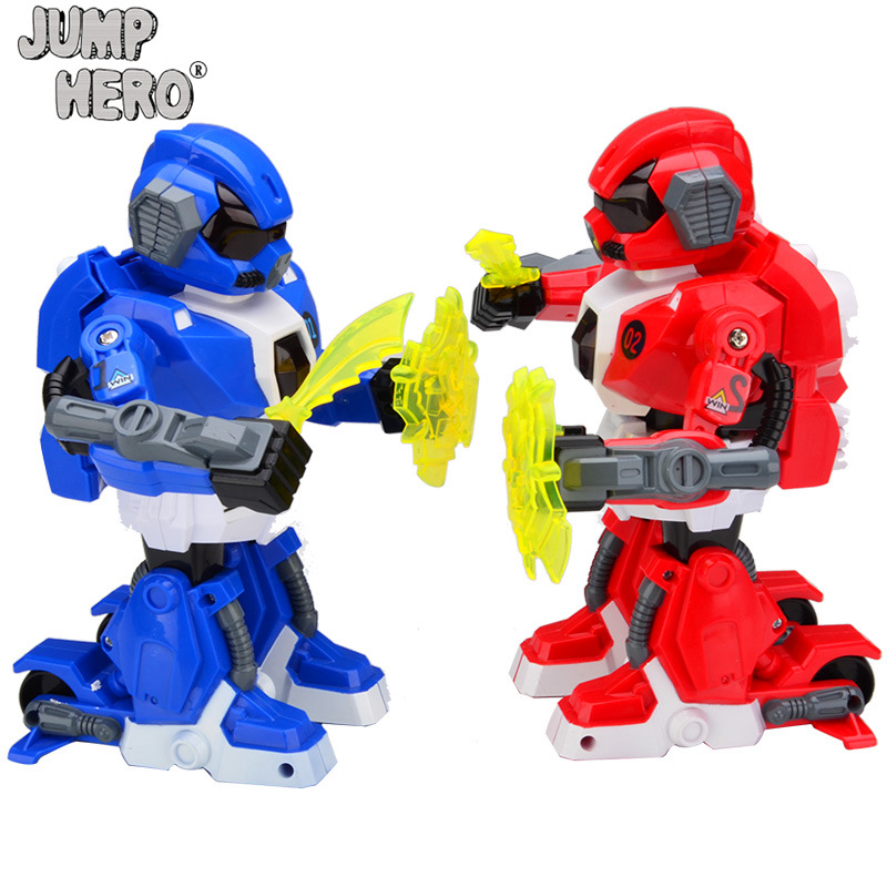 RC Robot Toys Intellgent Double's Boxing Battle Game Remote Control Robots Model Funny Child's Toy Kids Birthday Gift #C new intelligent rc robot funny game toys 2 4g dancing battle robot model toy multi function remote control robots kit gift
