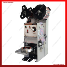 цена на WY802F electric desktop automatic cup bottle sealing machine for Milk tea shop coffee bar
