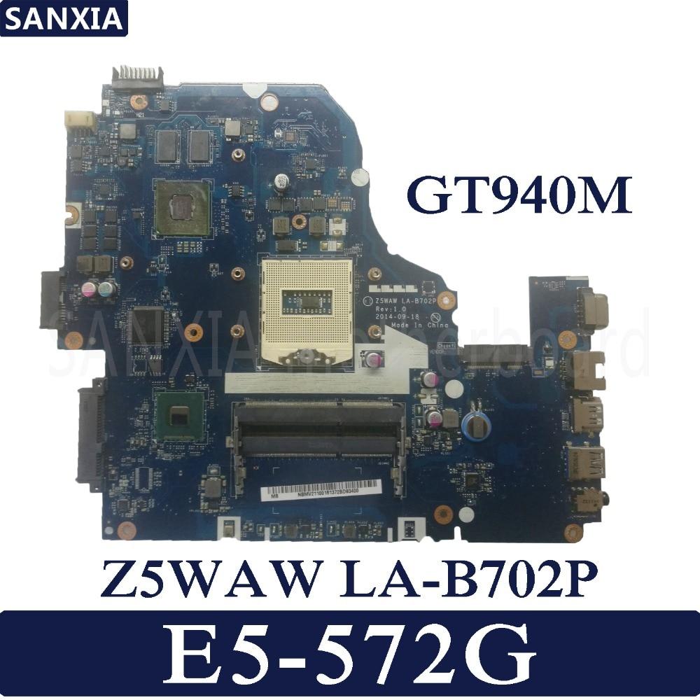 KEFU Z5WAW LA B702P Laptop motherboard for font b Acer b font E5 572G Test original