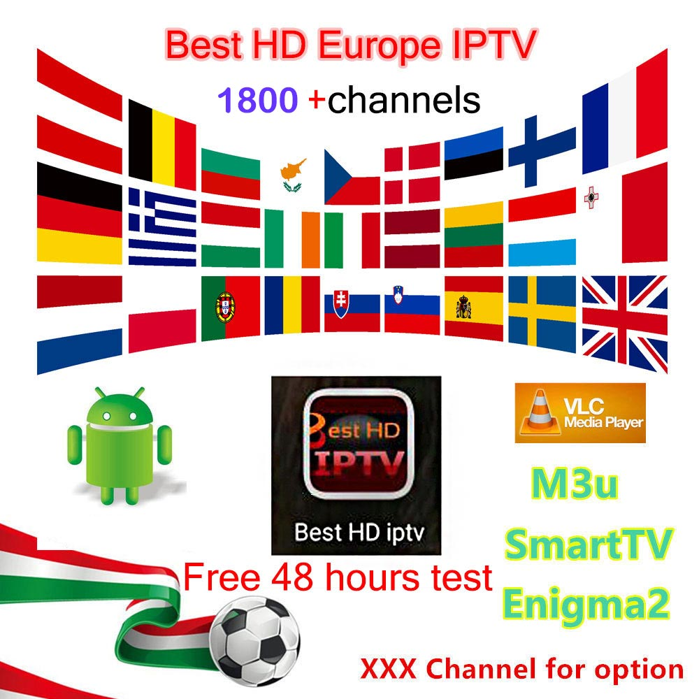 6/12 months IPTV subscription European 1800+channels French/Italy/EX-YU/CA/UK/NL/Poland channel of IPTV M3U/Enigma2/android  box yu and crabs xuan 2 6 3 0