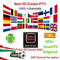 6 12 Months IPTV Subscription European 1800 Channels French Italy EX YU CA UK NL Poland