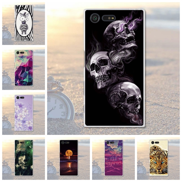 Skull Pattern for Sony Xperia X Compact Soft TPU Cell Phone Case For Sony Xperia x Compact Capa X Mini f5321 PS30 X Case Covers