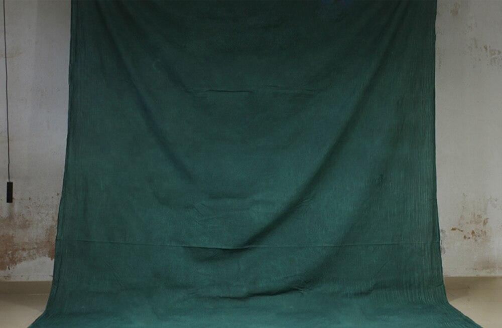 HUAYI teint à la main vert mousseline Photo toile de fond coton peint à la main arrière-plan éblouissant-écran de Studio de photographie 7x10ft XY-03
