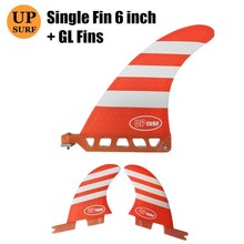 single fin 6 sup center fiberglass longboard fins fcs2 gl Fibreglass SUP Board