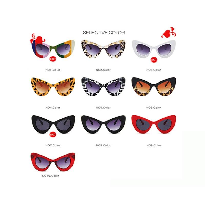 Купить длинные винтажные солнцезащитные очки кошачий глаз женские роскошные