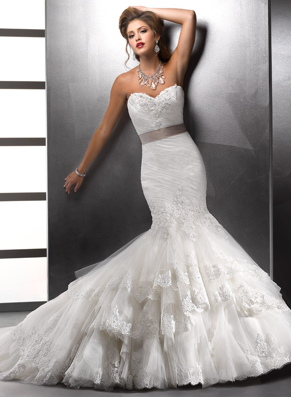 Aliexpress.com : Buy 2017 Lace Sweetheart Mermaid Wedding Dresses ...