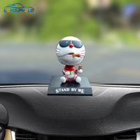 Brand New Funny Car Dashboard Toys Shake Head Styling Dolls Cigar Pipe Cat Ornaments Automobiles Interior