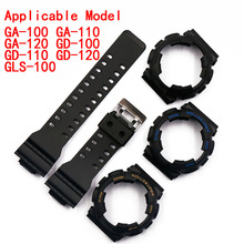Watch accessories resin strap case pin buckle for Casio G-shock GA GD rubber watch with sports waterproof female men watch ban стоимость