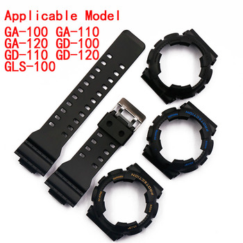 Watch accessories resin strap case pin buckle for Casio G-shock GA GD rubber watch with sports waterproof female men watch ban недорого
