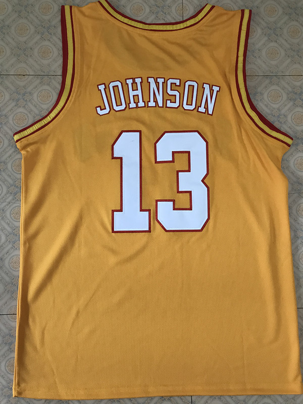 86c6d4d9a 13 Magic Johnson san diego college throwback Basketball Jersey All Size  Embroidery Stitched Customize any name and name-in Basketball Jerseys from  Sports ...