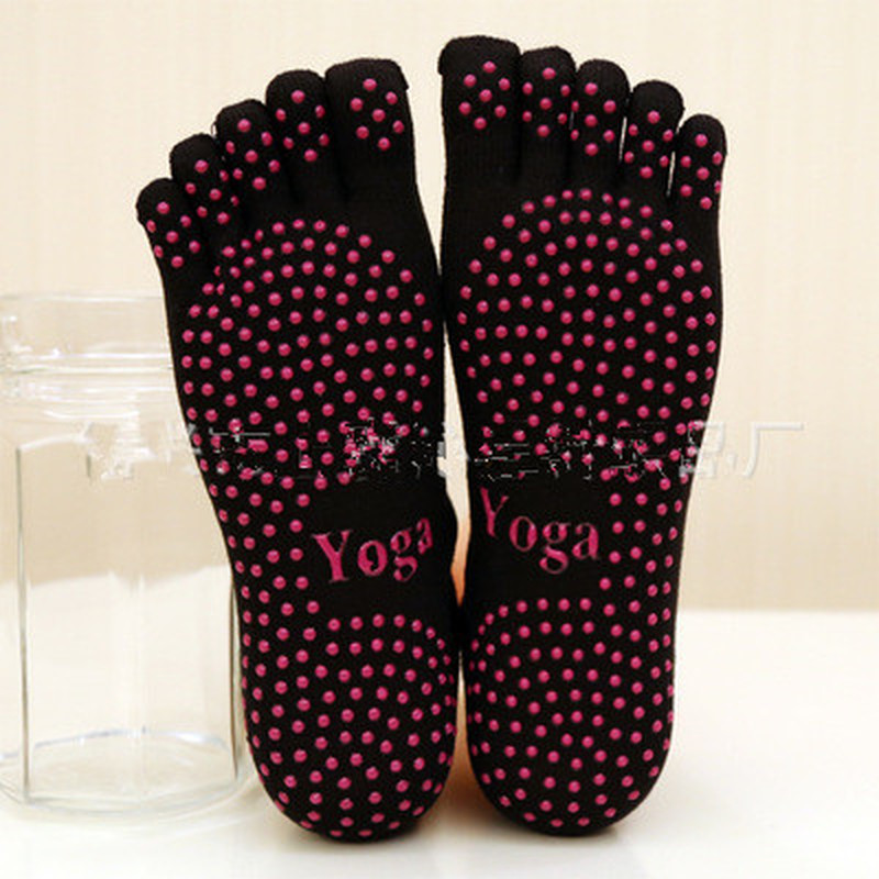 Women Yoga Socks Ladies Sport Pilates Socks Ballet Dance Socks Five Fingers Silicone Dots Non-slip Socks Newest