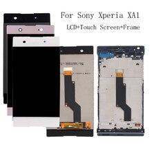 """5.0 """"dla Sony Xperia XA1 wyświetlacz LCD z ramką + montaż digitizera ekranu dotykowego dla Sony XA1 G3116 G3121 G3112 zestaw naprawczy LCD"""