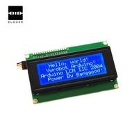 Электронная часть 5 В IIC/I2C 2004 204 20x4 символов ЖК-дисплей Дисплей модуль Синий Экран для проекта Arduino Интерфейс I2C
