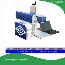 CO2 лазерная маркировочная машина с США RF металлическая трубка, для производства татч, бирки, таблички, логотипы, 10 Вт RF металлическая трубка CO2 лазерный маркер